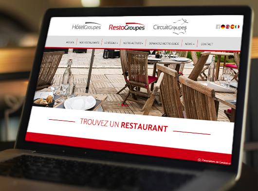 Restogroupes - Site web