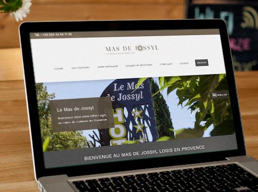 Le Mas de Jossyl - Site web