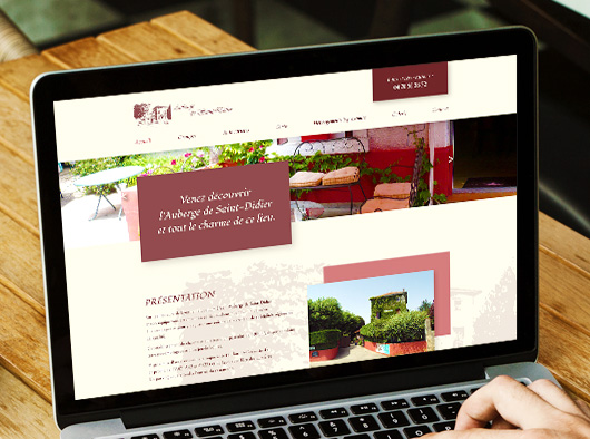 Auberge de Saint-Didier - site web